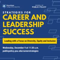 Strategies for Career and Leadership Success