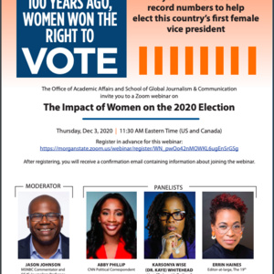 The Impact of Women on the 2020 Election