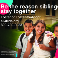 Keep Siblings Together Become a Foster Parent