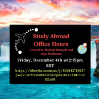 Study Abroad Office Hours