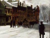 Everett Shinn, Sullivan Street,1900-1905
