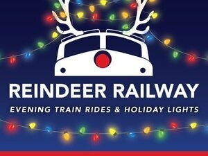 Reindeer Railway Evening Trains & Holiday Lights