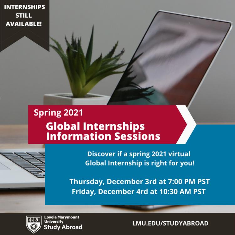 Lmu Spring 2021 Calendar Spring 2021 Global Internships Information Sessions   Loyola