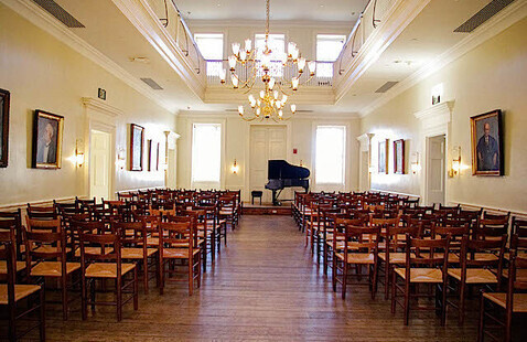 The Great Hall in McDowell Hall.