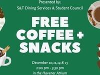 FREE COFFEE & SNACKS