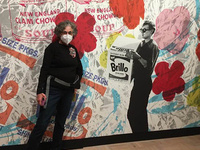 Warhol selfie wall