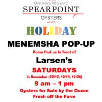 Pop-Up: MV Spearpoint Oysters