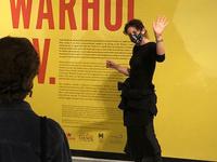 Warhol T.V. title wall