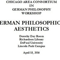 GERMAN PHILOSOPHICAL AESTHETICS