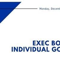 IFC Exec Meeting: Individual Goals and Updates