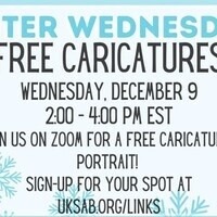 SAB Winter Wednesdays Free Virtual Caricatures