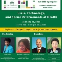 """Flyer for """"Girls, Technology, and Social Determinants of Health"""""""
