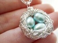 Garden Creativity at Home: Bird Nest Necklaces