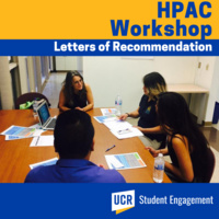 HPAC:  Letter of Recommendation Workshop