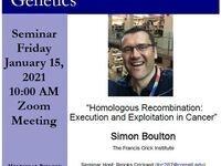 "MBG Friday Seminar: ""Homologous Recombination: Execution and Exploitation in Cancer"""