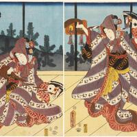 Utagawa Kunisada, The first month: First dance of the New Year (Moshun:odorizome), Gift of Marshall H. Gould