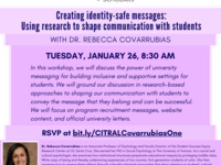Creating identity-safe messages: Using research to shape communication with students