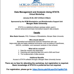 Data Management and Analysis Using STATA Virtual Workshop