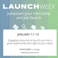 Launch Week - Jumpstart your Internship and Job search!