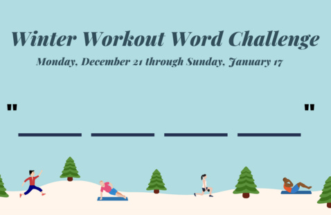 Winter Workout Word Challenge