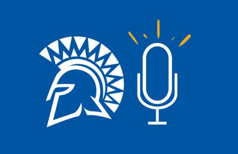 Spartan spirit mark and microphone