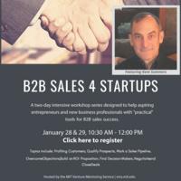 MIT VMS IAP Boot Camp Event: B2B Sales 4 Startups