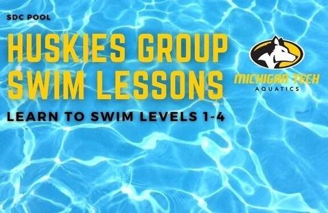 Huskies Group Swim Lessons Levels 1-4