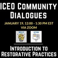 ICEO Community dialogues, description below