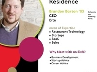 Entrepreneur in Residence: Brandon Barton '03