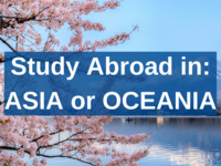 Study Abroad in: ASIA or OCEANIA
