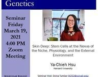 MBG Friday Seminar: Skin Deep: Stem Cells at the Nexus of the Niche, Physiology, and the External Environment