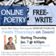 Online Free-Write Poetry Class