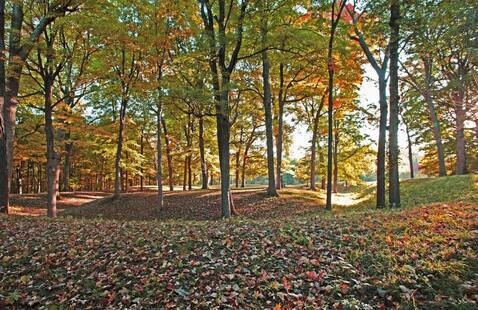 Circle Mound at Mounds State Park, photo by Jerry Byard