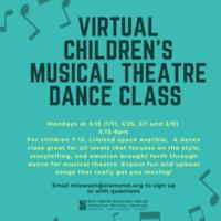 Virtual Children's Musical Theatre Dance Class