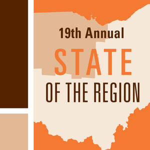 19th annual state of the region. Ohio in the background