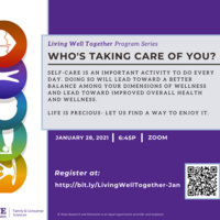 Living Well Together: Who's Taking Care of You?