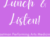 Lunch & Listen! Tuesdays 11:30-1pm