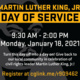 Martin Luther King Jr. Day of Service Marketing Image, 9:30-3 pm, Monday January 18, 2021, Register at http://cglink.me/r909462
