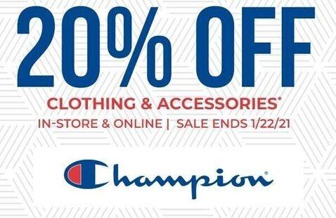 January 2021 Champion Sale Tuesday, January 19—Friday, January 22
