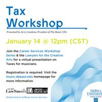 Career Services Workshop Series: Tax Workshop