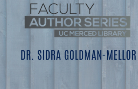 Blue background with Faculty Author Series logo