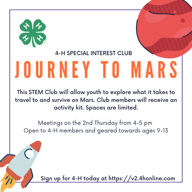 Journey to Mars 4-H SPIN Club