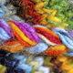 Yarn braid close-up photo