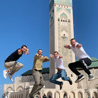"""Jumping for Joy"" in Casablanca, Morocco: By Cory Smith"