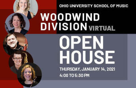 Woodwind Division faculty photo/graphic