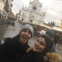 Two study abroad students in Italy