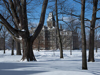 McGraw Hall & Arts Quad in Snow