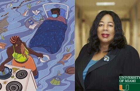 Art by Catherine Villalonga with (F)empower. Harriet A. Washington, award winning science writer.