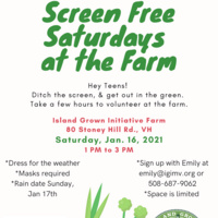 Screen-Free Saturdays at the Farm