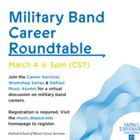 Career Services Workshop Series: Military Band Roundtable with SOM Alumni Guests